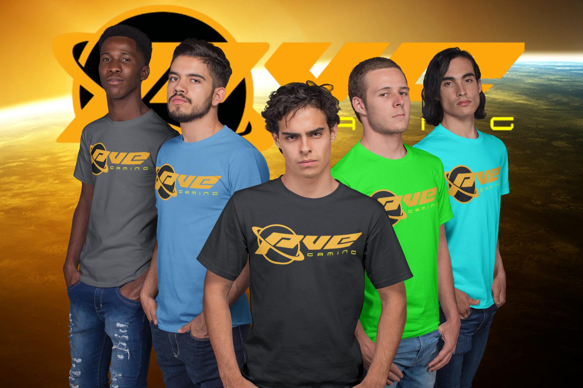 group-shot-mockup-of-an-esports-team-wearing-t-shirts-a21093